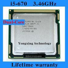 Lifetime warranty Core i5 670 3.46GHz 4M SLBLT Dual Core Four threads desktop processors Computer CPU Socket LGA 1156 pin