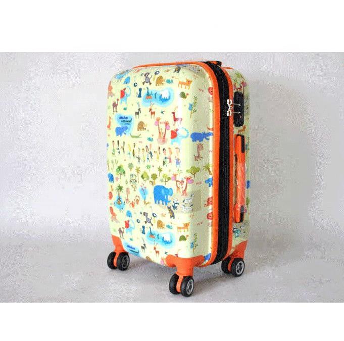 4 колеса тележки чемодан мода багажные наборы чемоданов с красочным печатным рисунком для багажа