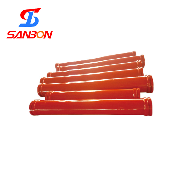 concrete pump parts ST52 seam or seamless pipes with sk, ZX, SW flanges