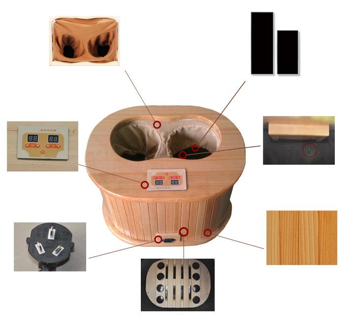 mini portable infrarouge lointain pied sauna saunas bois sauna dans salles de sauna de. Black Bedroom Furniture Sets. Home Design Ideas