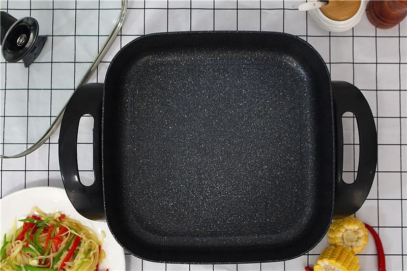 Корейская электрическая сковорода с контролем температуры и антипригарным покрытием, 30 см