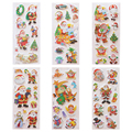 6 sheets set Christmas Santa Snowman Tree stickers for kids Home decor on laptop 3D sticker