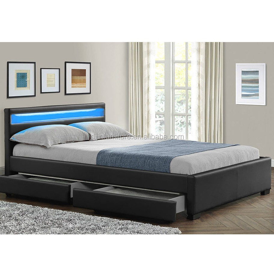 double king size bed frame with 4 drawers storage led headboard buy king size bed frames king size slat bed frame king size leather bed frame