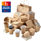 Biodegradable disposable kraft paper food container