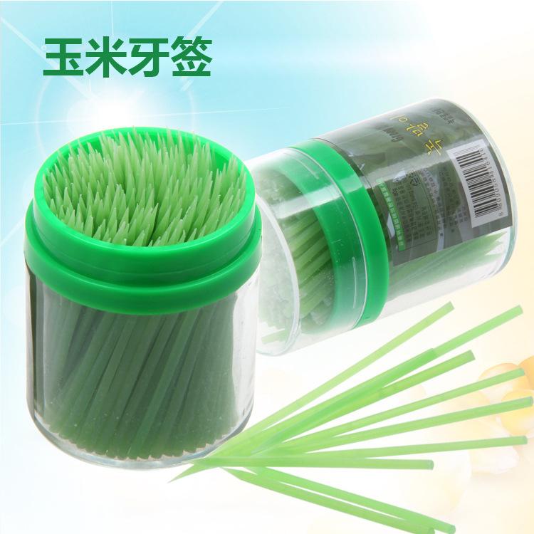 Высококачественная биоразлагаемая одноразовая зубочистка из бамбукового кукурузного крахмала
