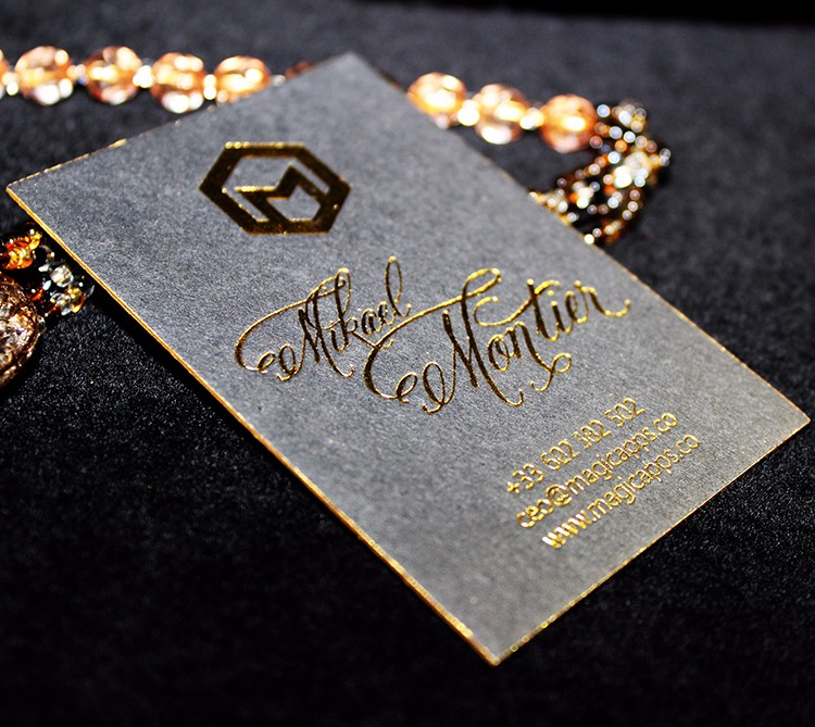 business card printing with gold edge color business card