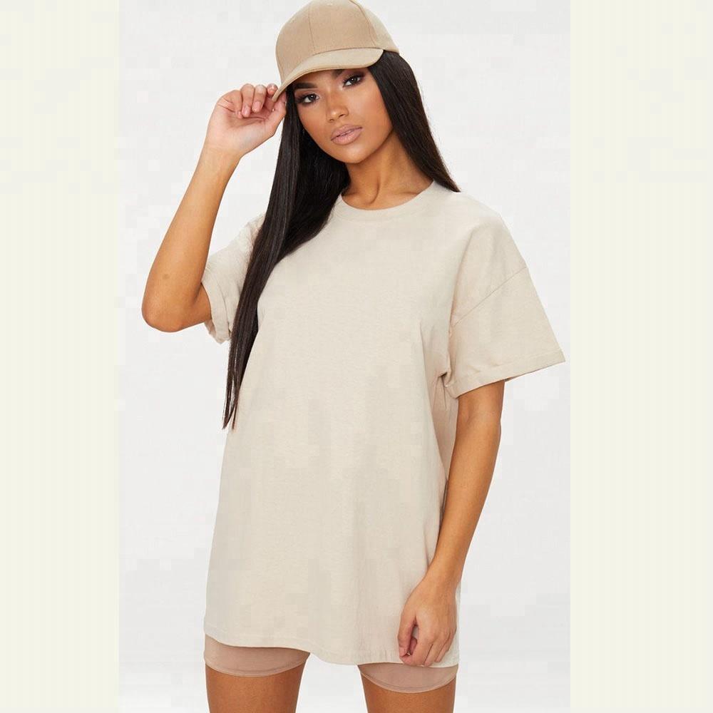 Vestuário personalizado camiseta namorado de grandes dimensões mulheres tripulação camiseta pescoço branco alto camisetas