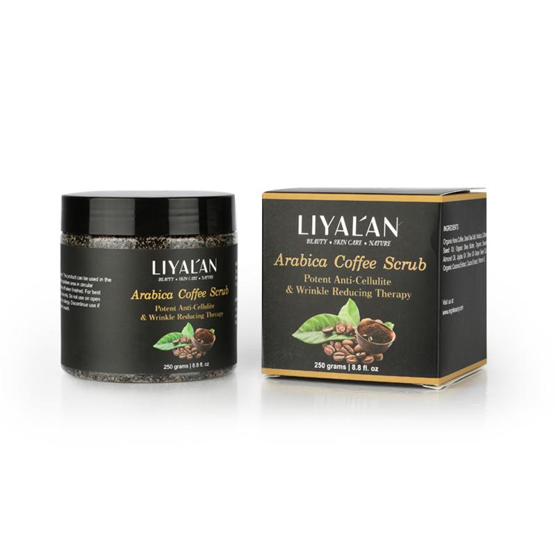 Private label anti cellulite exfoliator face body arabic coffee body scrub
