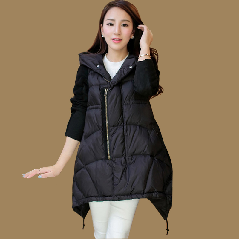 2015HOT HIGH QUALITY Winter down jackets clothes for pregnant women hooded stitched long sleeve thickening maternity