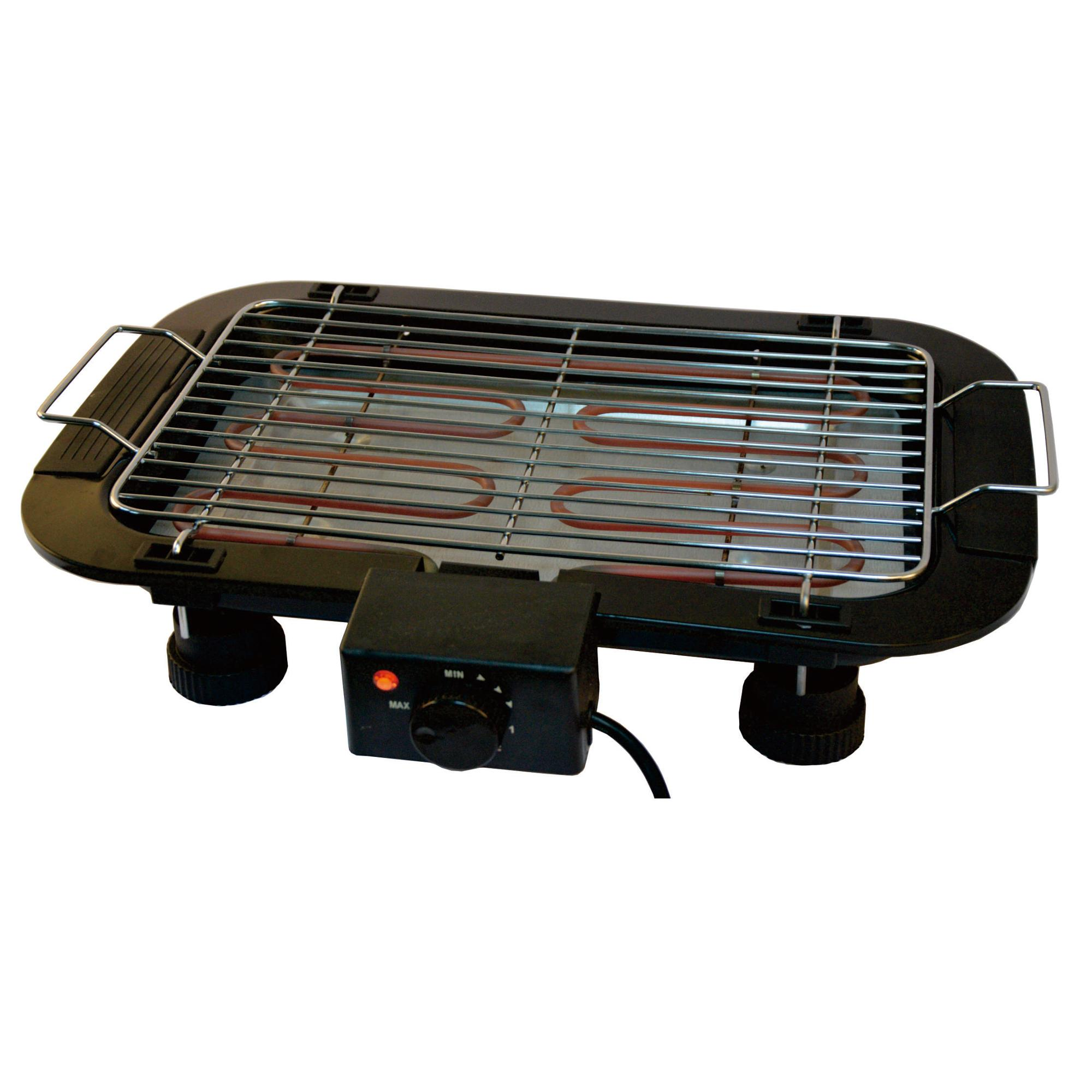 Electric Barbecue Grill Indoor Tabletop Thermostat Grill Height Adjustable Electric BBQ Grill