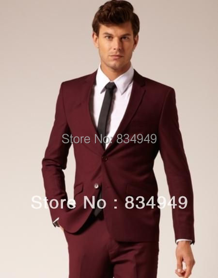 Custom Made To Measure Tailored Wedding Suits For Men Wine