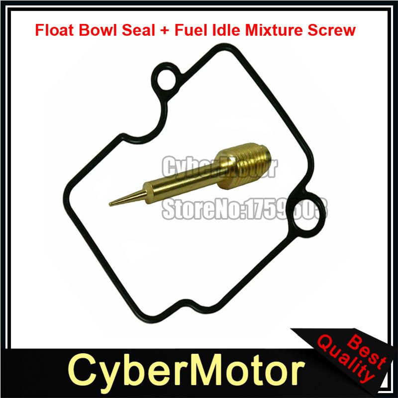 Carb Float Bowl Rubber Seal Gasket + Fuel Idle Mixture Screw For Mikuni  Carburetor VM22-3847 Dirt Pit Bike
