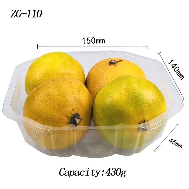 Disposable strawberry watermelon plastic blister packaging box,dried fruit tray with lid
