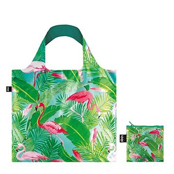 Custom heat sublimation reusable green polyester grocery fold tote bag foldable shopping bag