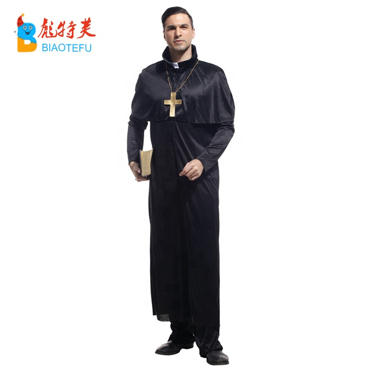 Carnival adult preacher priest cosplay costumes