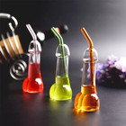 100ml creative penis shape glass bottle, bar ware dick cocktail glass without straw