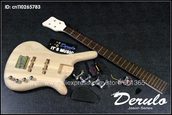 diy electric bass guitar kit bolt on solid alder body canadian maple neck mx 037 in guitar from. Black Bedroom Furniture Sets. Home Design Ideas