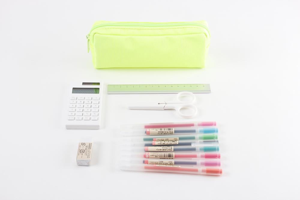 Zipper pen bag large capacity simple ins female small fresh stationery box student stationery bag boys and girls pen bag