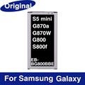 Original battery For Samsung Galaxy S5 mini G870A G870W G800 SM G800 DX S800F 2100mAh EB