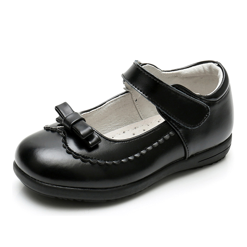 Заводская цена, Китай, оптовая продажа, Детская Классическая обувь для девочек, черная школьная обувь для детей