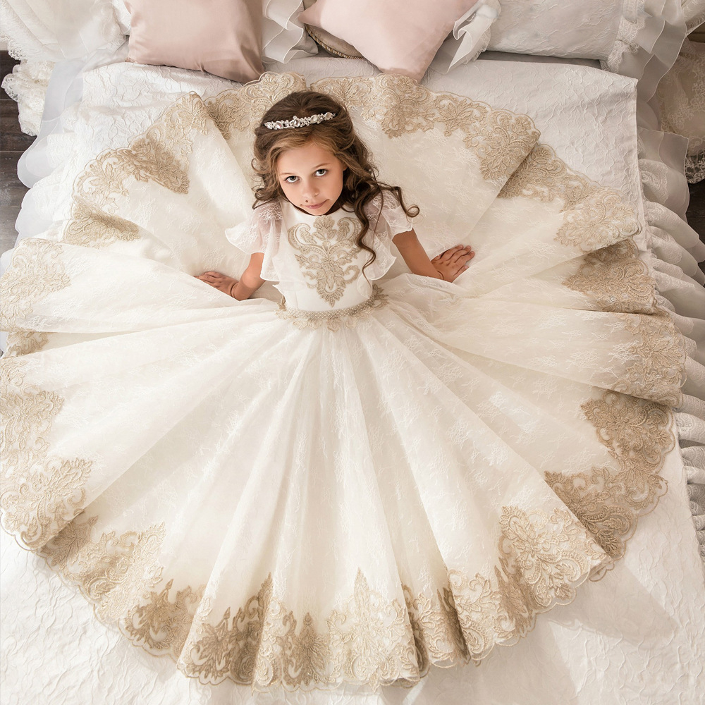 Boutique Wholesale Kids Girl Dress Wedding Prom Little Girls Ball Gowns For  Girls Flower Lace Bridesmaid Dresses - Buy Ball Gowns For Little