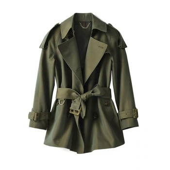 Spring and autumn style trench coat short style double-breasted high quality fashion short style casual dust coat