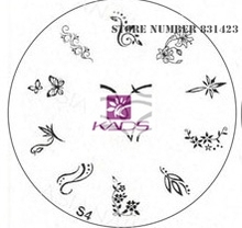 2015 S Series S4 Nail Polish DIY Stamping Plates Stainless Steel plate Nail Art Image Stamp