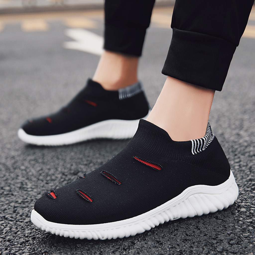 Muqgew Hollow Out Solid Big Size Flats Sneakers Shoes New Arrival Casual Sets Of Feet Lightweight Outdoor Non-slip Sneaker Shoes Shoes Men's Casual Shoes