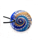 Golden Sand Silver Foil Embossing Women Wholesale Jewelry Round Shape Glazed Murano Millefiori Pendant Lampwork Glass Pendant