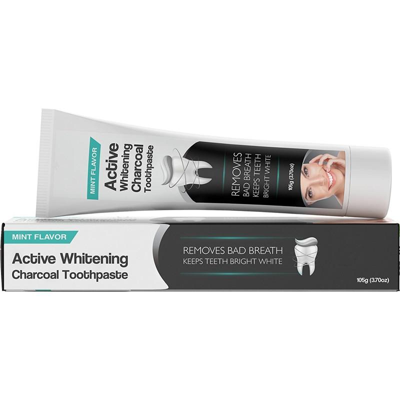 Оптовая продажа, отбеливающая зубная паста с активированным углем