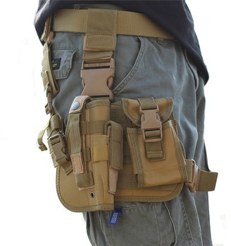 2018 Heavy duty Molle Tactical Pistol Thigh Gun Holster, Drop Leg Holster, Right Hand Adjustable