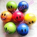 24PCS LOT PU soft ball Smile face ball Baby toys Interactive toys Kids toys Smash ball
