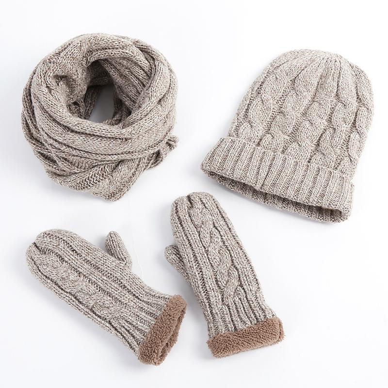 Autumn Winter Women Men Fur Pompom Beanie Hat and Scarf