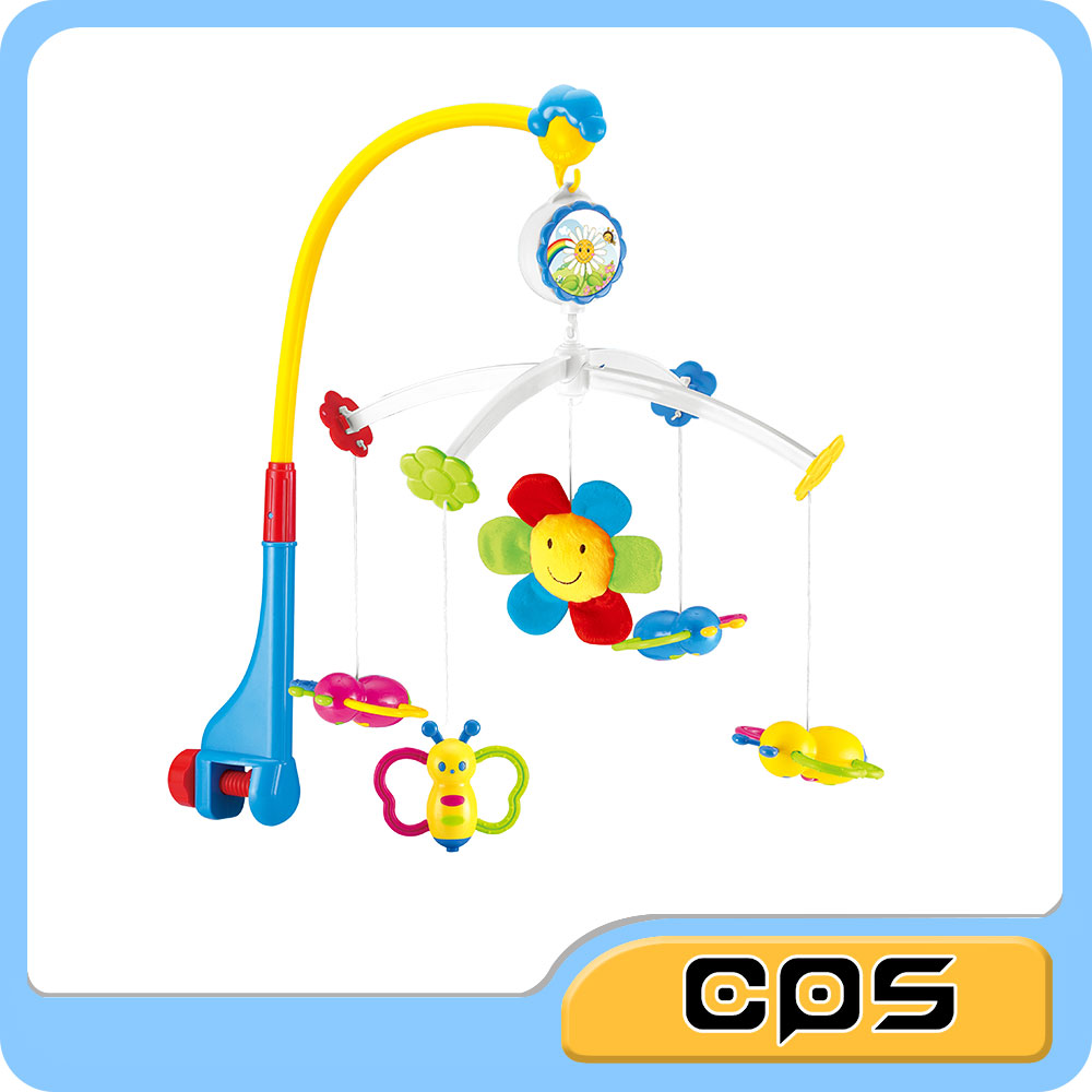 Infant crib toy hanging carousel musical mobile