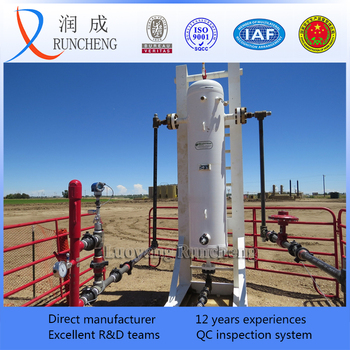liquid gas separator / mud separator price for gas or oil field drilling