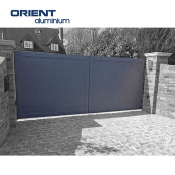 Customized Aluminum Sliding Gate Design Driveway Sliding Gates Electric Automatic Wireless Driveway Gate Remote