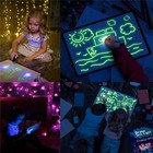 Magic Board A3 Drawing Board A3 A4 A5 Magic Drawing Pads Childlike Painting Fluorescent Drawing Board At Night