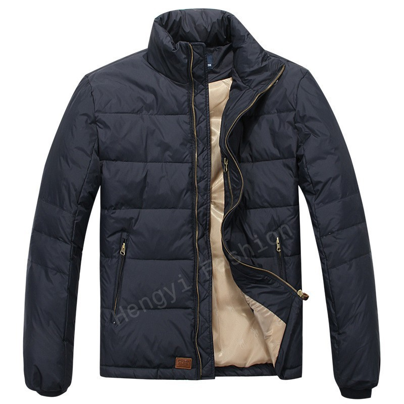 Brand men's quality POLO jackets down feather pading
