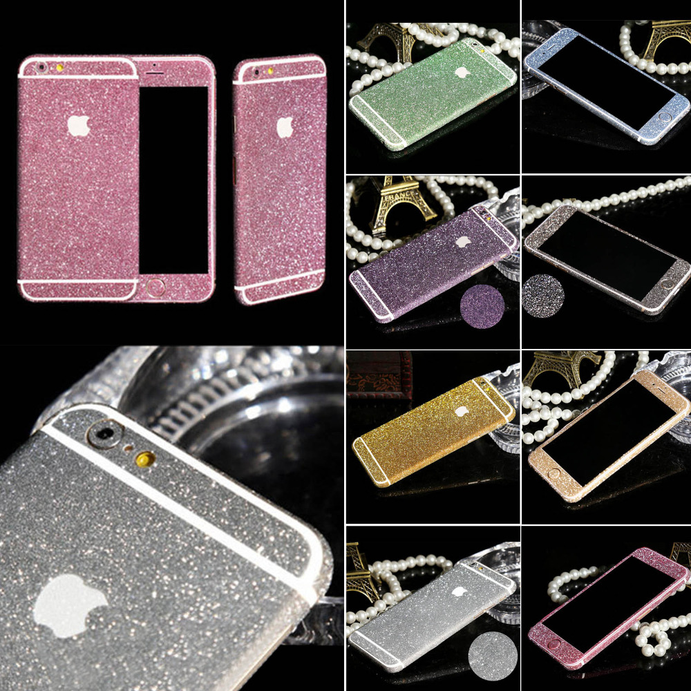 new arrival a0cd4 2a3d0 New Arrival Full Body Glitter for iPhone 5 5S Shiny Phone Sticker Case Gold  Sparkling Diamond Film Decals Matte Screen Protector