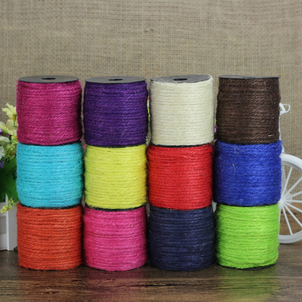 Online Buy Wholesale colored jute twine from China colored ...