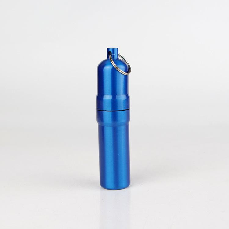 Мини алюминиевый держатель портсигар с кольцом для ключей