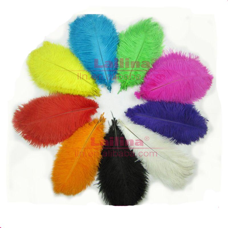 Модное украшение для стола оптом, окрашенное цветное натуральное страусиное перо