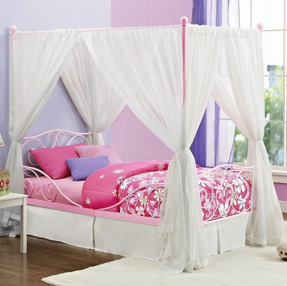 Princess Style Canopy Metal Bed Frame With Curtains For Bedroom Furniture Buy Canopy Metal Bed Metal Bed Frme With Curtains Metal Bed Furniture Product On Alibaba Com