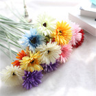 Factory Direct Silk Single Stem Frosted Sun Flower Gerbera Daisy Flower For Home Decoration Floral Arrangements
