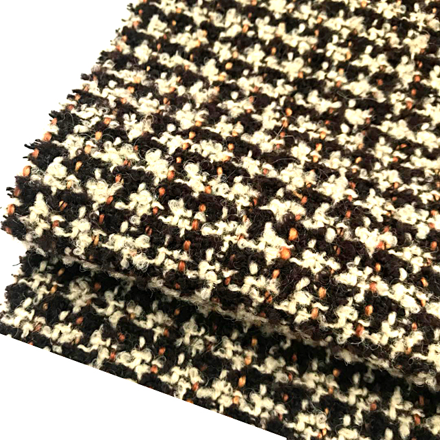 New design check wool wool acrylic blend fabric for suit from china