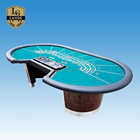 Seat Table Full Size 10 Seat Professional Baccarat Poker Table With Dealer Position
