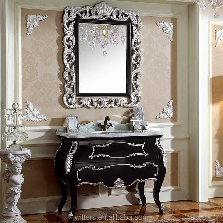 Luxury Unique Antique Black Bathroom Vanity Cabinet Wts257 Buy Bathroom Vanity Cabinet Antique Bathroom Vanity Cabinet Black Bathroom Cabinet Product On Alibaba Com
