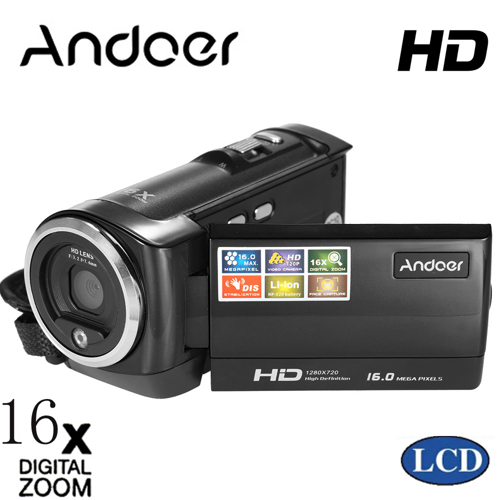 buy andoer mini portable lcd screen hd digital camera 16mp 16x digital zoom. Black Bedroom Furniture Sets. Home Design Ideas