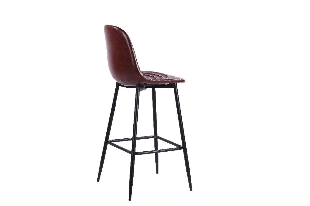 Бесплатный образец, лидер продаж, барные стулья с металлическими ножками и покрытием из ПУ, барные стулья