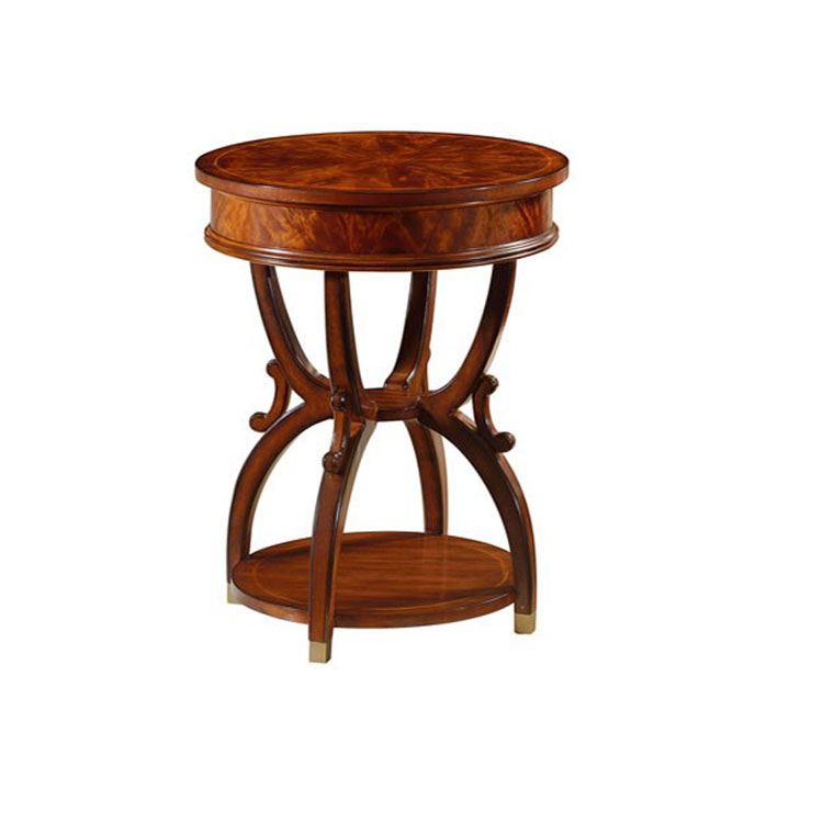 Unique Design Small Round Table Solid Wood End Table Four Legs Wood Round Table Buy Antique Small End Table Wooden Round Table Good Shape Solid Wood Round Table Useful End Table Four Legs Wood